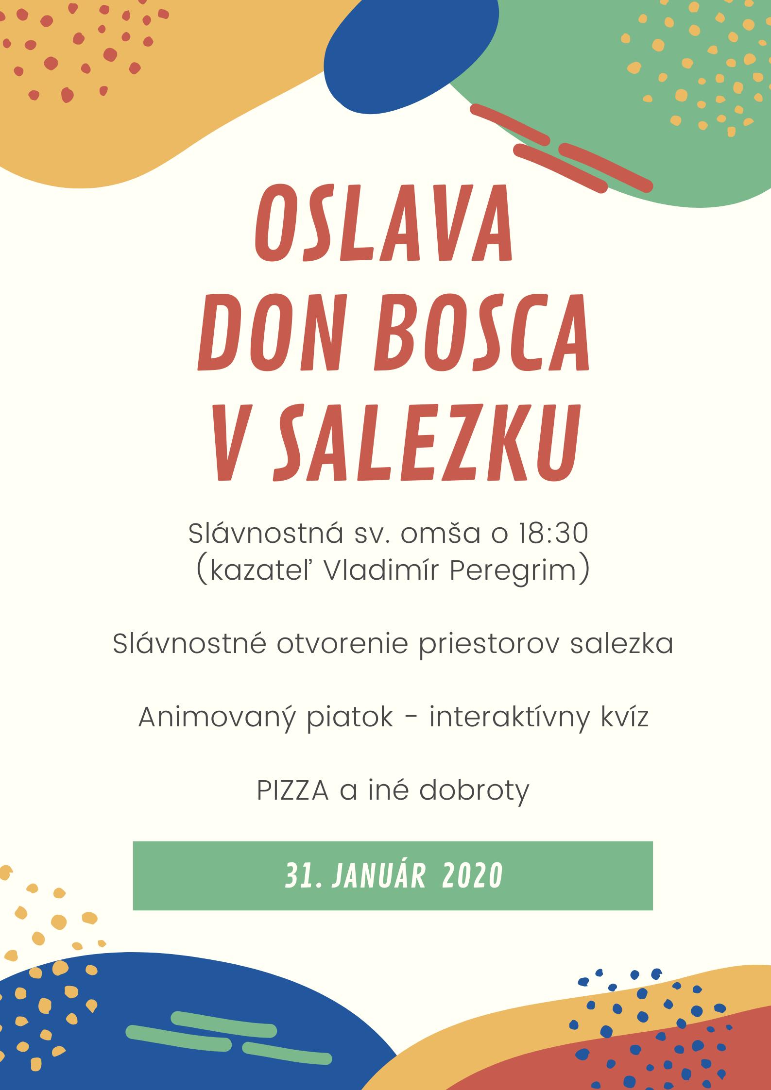 Oslavy Don Bosca v Salezku